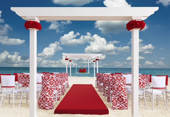 romantic red collection wedding package