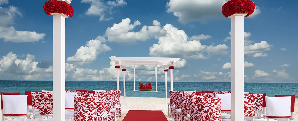 The Romantic Red Palace Resorts wedding collection.