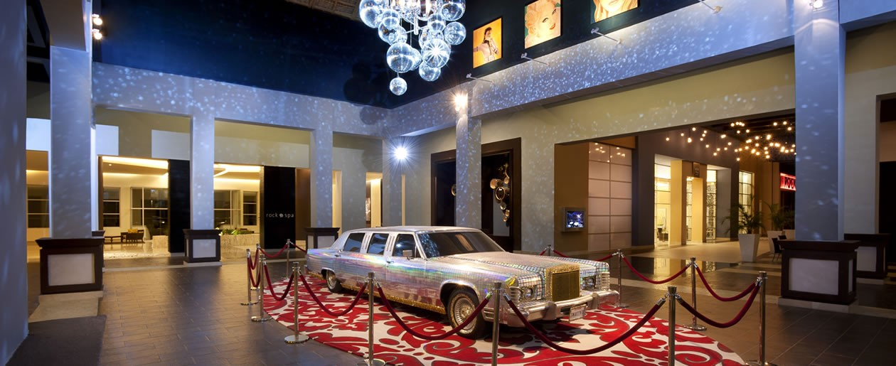 The Madonna Lobby dazzles your guests during your destination wedding at Hard Rock Hotel & Casino Punta Cana.