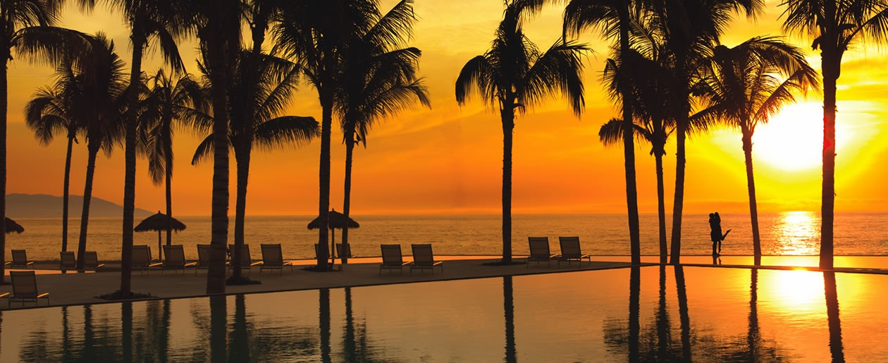 Enjoy ultimate relaxation and the spectacular view of the Bay of Banderas at Secrets Vallarta Bay.