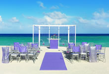 Purple Shimmer destination wedding