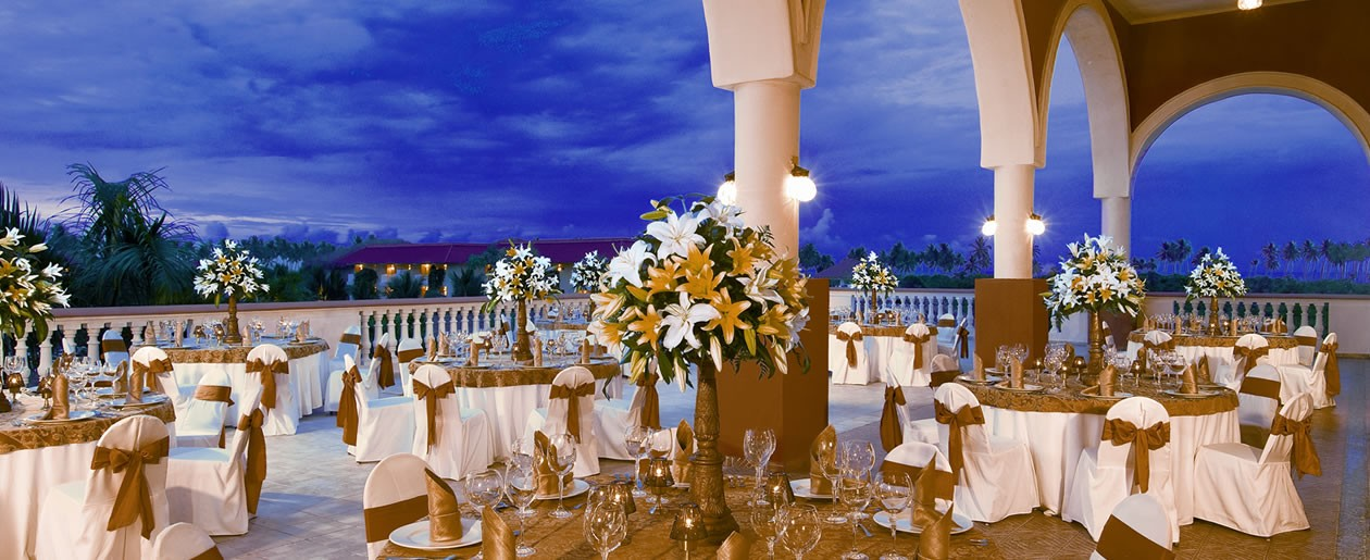 A Ballroom Wedding Set Up At Dreams Punta Cana Resort Spa