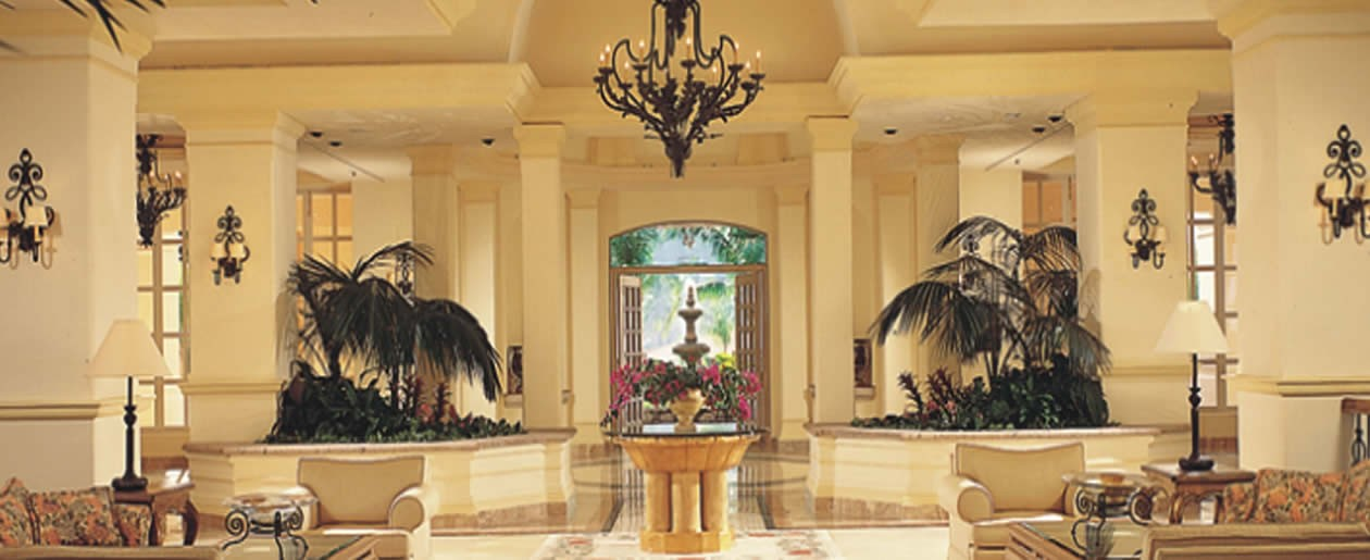 The elegant lobby at the Grand Isla Navidad Resort will impress your wedding guests the minute they enter the resort.