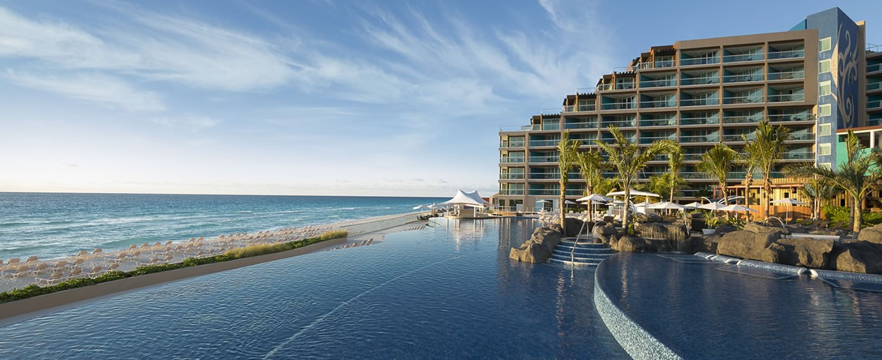 The ultimate beachfront playground transformed to a unique all-inclusive vacation into a mexico rock star paradise.