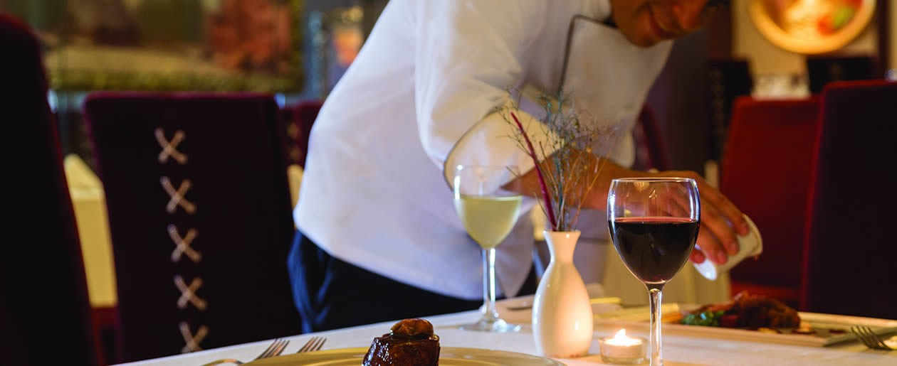 Gourmet cuisine and beverages engage all the senses.